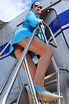 Sexy High Heels presents flight attendant Stella van Gent in latex and high heels